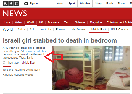 BBC reports on Kiryat Arba attack without using the word terror