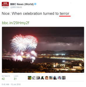 Reviewing BBC reporting of vehicular attacks in France and Israel