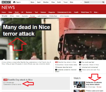 BBC News website 'Europe' page