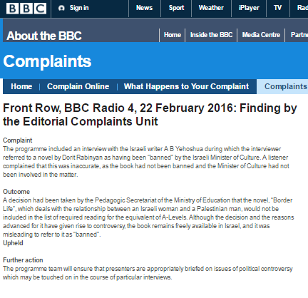 BBC Radio 4 programme edited following BBC Watch complaint
