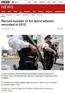EU terror attacks
