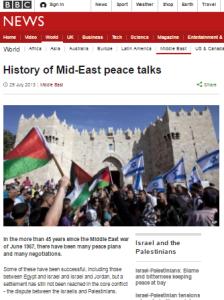 History ME peace talks 2013