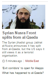 Is the BBC's report of Jabhat al-Nusra 'split' from al Qaeda too simplistic?