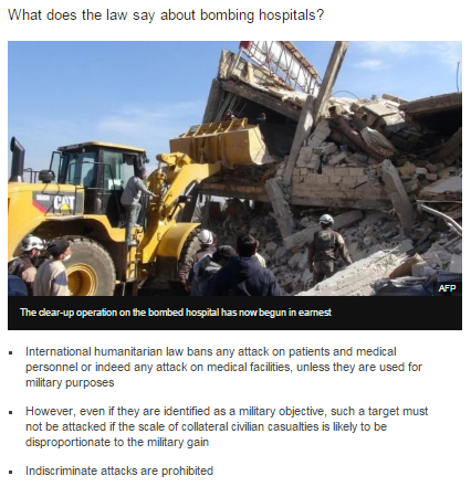 Comparing BBC reporting on strikes on hospitals in Syria and Gaza