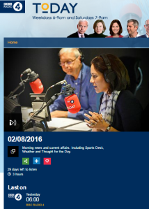 In which BBC Radio 4 links Israel's anti-terrorist fence to Donald Trump