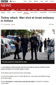 Misleading headlines for BBC News report on Ankara incident