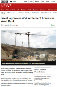 More BBC promotion of the 'Peace Now' narrative on construction