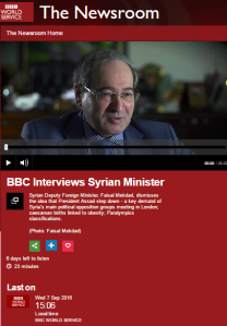 Multi-platform BBC promotion of Syrian regime falsehood concerning Israel