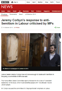 BBC article on antisemitism report recycles problematic backgrounder