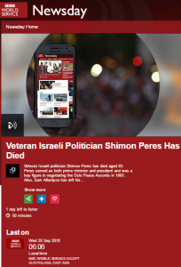 BBC WS breaches impartiality guidelines with Ben White interview on Peres