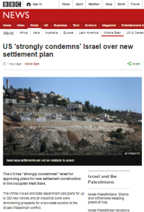 BBC News amplifies inaccurate US claim of 'new settlement'