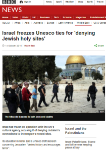 BBC silent as UNESCO resolutions come home to roost