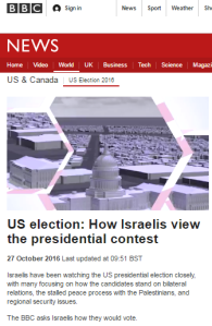 Mangled statistics in BBC's US Election in Israel reports