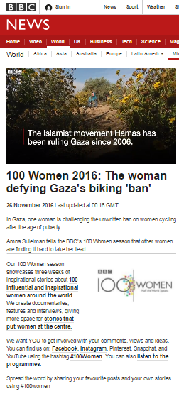 BBC beats around the bush on women's rights in Gaza