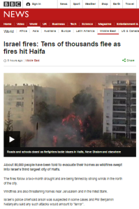 BBC coverage of fires in Israel misleads on Carmel casualties