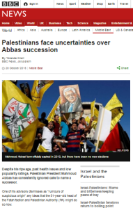BBC News continues to under-report internal Palestinian politics