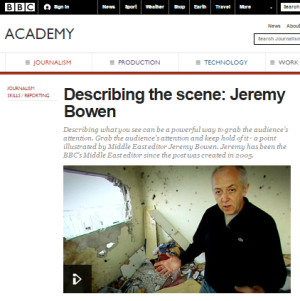 BBC Academy touts Jeremy Bowen Gaza report as model journalism