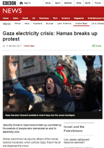 BBC News again avoids telling audiences real reasons for Gaza power crisis