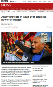 BBC's sketchy reporting on Gaza power crisis highlighted
