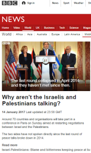 Reviewing BBC News website portrayal of the Paris conference