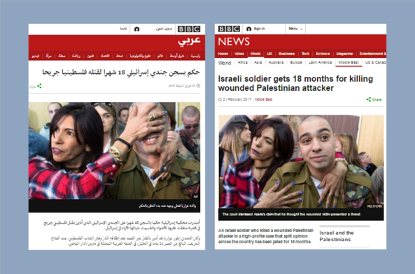 BBC and Sky News promote different headlines to English and Arabic speakers