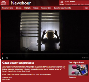 BBC WS radio 'Newshour' special from the Gaza Strip – part two