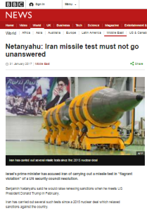 BBC WS 'Newshour' misleads on EU statement on Iran missile test