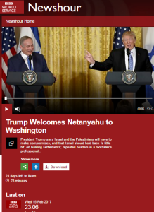 BBC WS continues promotion of two-state solution narrative