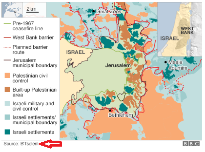 Continuing documentation of the BBC's B'Tselem map binge