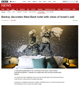 Multiplatform BBC amplification for anti-Israel 'political statement' PR campaign