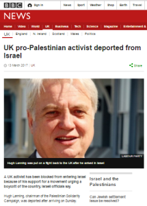 Reviewing BBC reporting on the BDS campaign in 2017