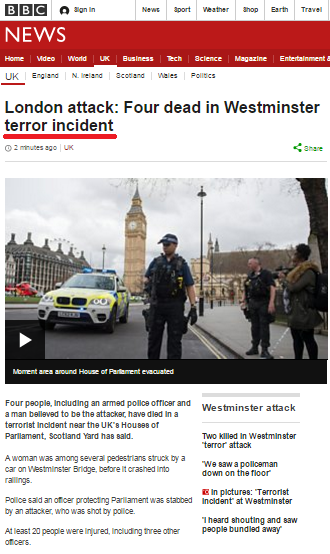 Absurdity of BBC's 'Language when Reporting Terrorism' guidance on display again