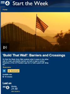 In which BBC Radio 4 insists on describing a fence as a wall
