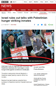 BBC News promotes PLO narrative in copious coverage of prisoners' strike
