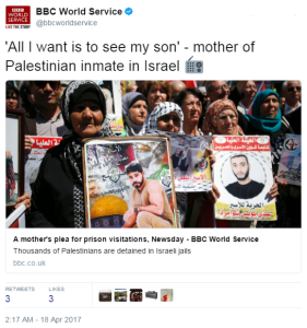 "Identifying the BBC's anonymous ""mother of a Palestinian inmate"""
