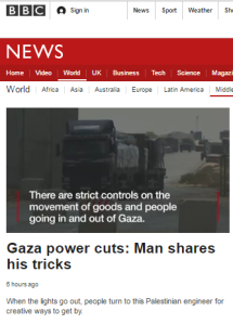 More BBC disinformation on Gaza power crisis