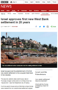 BBC contradicts years of its own narrative on Israeli construction