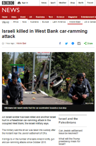No use of term 'terror' in BBC News report of vehicular attack on Israelis