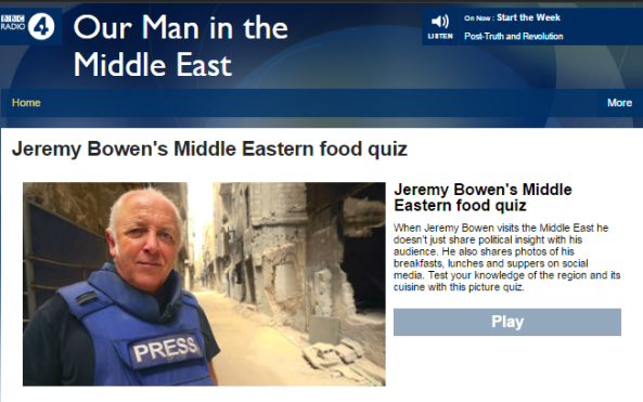 BBC Radio 4 launches a new ME series by Jeremy Bowen