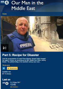 BBC ME editor recycles his 'Israeli Right killed the peace process' theory