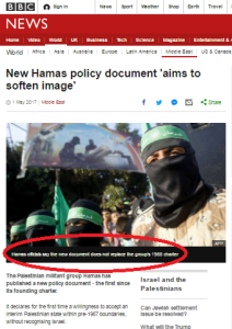 BBC coverage of new Hamas document – part one: website