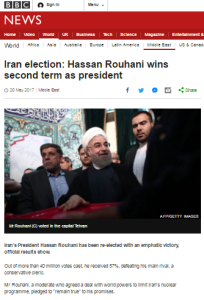 BBC News coverage of Iranian election touts 'moderate' Rouhani yet again