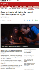 Gaza's electricity crisis continues but BBC reporting does not