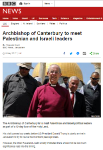 BBC's Yolande Knell reports on Archbishop of Canterbury's ME visit