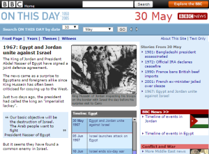 Reviewing original BBC reporting on the Six Day War