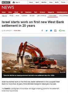 BBC News promotes more of its unvarying narrative on Israeli construction