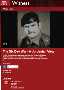 BBC World Service history programmes on the Six Day War – part two