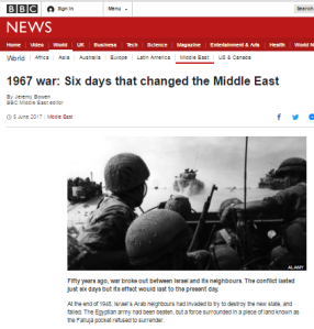 Jeremy Bowen promotes political narrative in BBC's Six Day War centrepiece