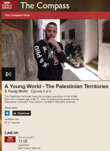 BBC WS radio report on Palestinian culture exploited for one-sided political messaging