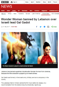 Omission and inaccuracy in BBC's 'Wonder Woman' Lebanon ban report